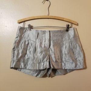 Express Metallic Silver Dress Shorts Size 2